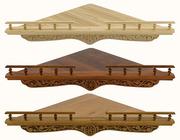 Полка для икон деревянная угловая, резная, сборная, 114006.