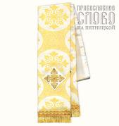 Закладка белая с золотом для Апостола, шелк в ассортименте