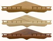Полка для икон деревянная угловая, не резная, сборная, 114005.