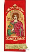 Закладка для Евангелия 'Вмч. Георгий' вышивка, красный габардин