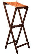 Аналой деревянный раскладной, с матерчатым верхом, с двумя латунными подсвечниками, 111002.